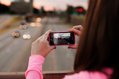 Shooting the shooter (clay.wells) Tags: street june rock sunrise canon lens photography eos 50mm prime spring downtown traffic little bokeh mark clayton f14 4 battery overpass wells ii 5d arkansas interstate usm ef 2012 iphone shoottheshooter i630 img2795crop