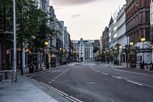 Streets Of Belfast At Night