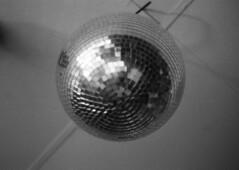Cosmic Bowling (Bowling 6) - #178 (Patrick DB) Tags: blackandwhite bw canon disco ae1 bowling mirrored a1 grainy 3200 cosmic ilford