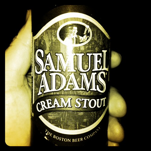 Sam Adams Cream Stout @home