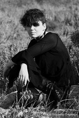 Pris (K0D3X) Tags: sardegna portrait blackandwhite bw woman girl canon dark donna sardinia bladerunner goth bn ritratto cagliari biancoenero pris ragazza valentina gotico philipkdick canoneos400d riccardodeplano