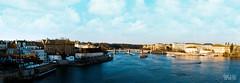 Vltava River [Panorama] (Daran Kandasamy) Tags: city panorama water clouds canon buildings river landscape boats europe republic view czech prague 7d charlesbridge vltava 24105mm