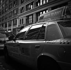 (yui503cx) Tags: nyc bw usa film taxi 66 ilford planar hassel 503cx