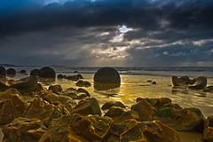 Wild Moeraki Edit V (fate atc) Tags: winter newzealand storm beach coast stormy nz southisland otago seashore calcite moerakiboulder pacificshore septarianconcretions wildedit largesphericalboulders organicnidus
