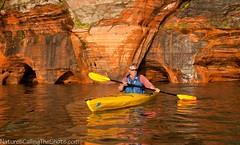 2012 Week 27 LensProToGo photo project; subject: Reflection  -   NaturesCallingTheShots.com (NaturesCallingTheShots) Tags: kayaking lakesuperior naturescallingtheshotscom meyersparkbeach kayakingthecaves lakesuperiorcaves