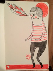 Red boy - character doodle (Counter_Klock) Tags: red moleskine illustration graphic sketchbook doodle characters russian lamysafari