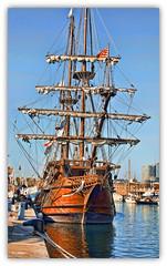 1197   Galen La Pepa (Ricard Gabarrs) Tags: mar barco barcos playa velas yates buque veleros yate galeon ricardgabarrus buqyes