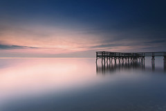 pre-dawn magic (dK.i photography) Tags: longexposure color canon dawn pier earlymorning maryland ethereal bluehour predawn canonef1740mmf4lusm calvertcounty flagponds 5dmkii singhrayrgnd