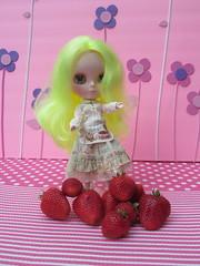 Penny Lane loves strawberries
