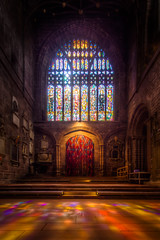 Stained Glass Window in Chester Cathedral (9x exposure HDR) (Mark Carline) Tags: cheshire cathedral stained chapels chester temples domes hdr mosques dslrcontroller
