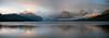 McDonald Lake Panorama (Amicus Telemarkorum) Tags: sunset summer lake storm mountains nature water clouds montana july use thunderstorm glaciernationalpark 2012 mcdonaldlake jeffrueppelphotography