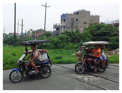 Motorcycle tricycles in Manila