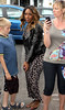 Alexandra Burke Celebrities leaving their hotel after attending the wedding of Rochelle Wiseman and Marvin Humes which took place on Friday (July 27) at Blenheim Palace England