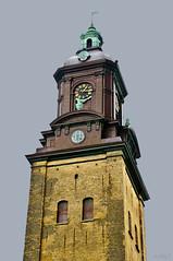 A quarter past one (StarlightHope) Tags: building clock church vertical gteborg ally time gothenburg churchtower kyrka tyskakyrkan klocka byggnad kyrktorn christinkyrka storybookwinner