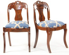 61. Pair of ca. 1840 Classical Side Chairs