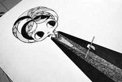 Ron Weasley (Anita Mejia) Tags: sepia illustration pen ink movie hp traditionalart harrypotter books fanart tribute snape hermione jkrowling ronweasley chocolatita anitamejia