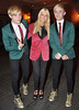 Jedward leaving the Trocadero restaurant in Dublin after a dinner date with Hollywood actress Tara Reid Dublin, England