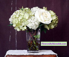 Silk Flowers by Meredith Hydrangeas Green