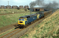 47174 & 47265 with a diverted Fletton - West Burton empty flyash working at Whisker Hill, Retford. (delticfan) Tags: class47 brushtype4 47174 flyash 47265 whiskerhill