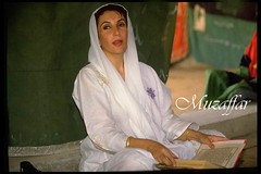 Zulfikar Ali Khan Bhutto [Death];Benazir Bhutto (muzaffar2002) Tags: pakistan party people site politics father praying tomb ali 1993 future leader after vote elections past casting bhutto benazir timeincnotown zulfikar 170901