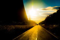 Cool Down (iratebadger) Tags: nikon nikond7100 nikkor d7100 sun sunset summer sundown evening shadows light sunlight eggborough powerstation blue orange orangehour truck road centralperspective distance cloud glow yorkshire england iratebadger iso100 image