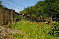 Suspensjon bridge used by Salamon fishers (odda66) Tags: brigde river riverside rivercrossing fujifilm xt1 xf1855 sluppen trondheim visittrondheim