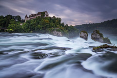 Rheinfall (benedikt.t) Tags: switzerland rhine waterfall schaffhausen neuhausen clouds longexposure rock