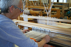 (RAIL REED & weaving) Tags: railreed weaving looms weaver summercourses weavehackers