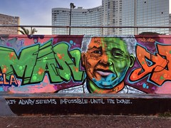 Mandela (Cocoabiscuit) Tags: cocoabiscuit iphone southafrica durban mural nelsonmandela mandela quote