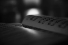 Hello Darkness My Old Friend (miss.interpretations) Tags: music piano sheetmusic melancholy silence notes simongarfunkel castlerock colorado bokeh song treble cleft