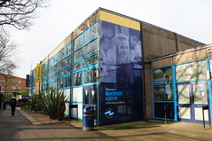 Brinsworth Academy with Billboard Size Photos (Steve Greaves) Tags: school academy rotherham big large poster wall students children education science promotion marketing architecture building achievingexcellence teacher teach teaching secondary yorkshire england british uk windows sunlight shadows