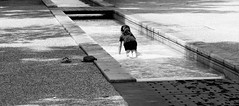 jeu avec l'eau (claudia.dambros) Tags: bambina enfant blackandwhite acqua gioco water