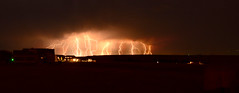 Lightning near Pine Bluffs, WY (Composite) (northern_nights) Tags: lightning thunderstorm composite wyoming 100v10f