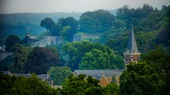 Citadelle de Namur-mist (Yasmine Hens) Tags: brouillard mist fog citadelle citadelledenamur hensyasmine namur belgium wallonie europa aaa belgi belgia europe belgien  belgique blgica   belgie  belgio    bel be church glise