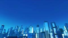 Mirror's Edge, 2009 (Video Games Art) Tags: minimalism videogame videogames jeuvideo jeuxvideo mirrorsedge urban city panorama bleu blue tower towers hightower hightowers atmospere