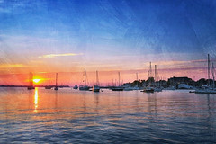 good morning (kenjiedwards) Tags: sunrise water annapolis maryland boats citydock iphone cellphone mobile cameraphone dawn sliderssunday watercolor waterscape