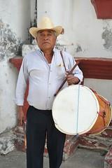 Man With Drum Oaxaca Mexico (Ilhuicamina) Tags: sansebastian ocotlan oaxaca mexican zapotec fiestas tambor drummer drums music traditional mexico people hombre gente