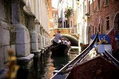 Gondola-Level View (cookedphotos) Tags: canon 5dmarkii travel italy venice venezia streetphotography canal gondola water boat gondolier