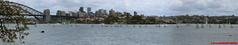 Sydney - Harbour Bridge from Royal Botanic Gardens - Panorama (soyouz) Tags: aus australie bondijunction gardenisland geo:lat=3385933095 geo:lon=15122219822 geotagged newsouthwales sydney parc harbourbridge pont panorama australiel