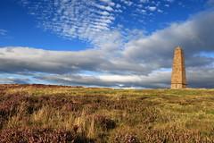 Captain Cooks Heather (kpce1960) Tags: canon 7d clouds scenic heather hill monument captain cook