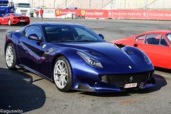 Ferrari F12 TDF (aguswiss1) Tags: ferrarif12tdf ferrari f12tdf f12 tourdefrance supercar hypercar limited edition limitededition sportscar racer cruiser bluecar fastcar rare millionaire parked 200mph 300kmh v12