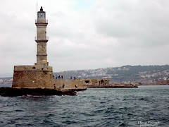 lighthouse, old port Chania (braziliana13) Tags: lighthouse greece chania crete oldport oldcity oldtown cloudysky cloudyday nikon greekisland greeksea outdoor