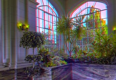 Winter garden of Casa Loma 3-D / Toronto / Anaglyph / Stereoscopy / HDR / Raw (Stereotron) Tags: toronto to tdot hogtown thequeencity thebigsmoke torontonian castle landmark mansion wintergarden conservatorium sunroom victorian architecture historism north america canada province ontario anaglyph anaglyph3d redcyan redgreen optimized anaglyphic anabuilder 3d 3dphoto 3dstereo 3rddimension spatial stereo stereo3d stereophoto stereophotography stereoscopic stereoscopy stereotron threedimensional stereoview stereophotomaker stereophotograph 3dpicture 3dglasses 3dimage twin canon eos 550d yongnuo radio transmitter remote control synchron in synch kitlens 1855mm tonemapping hdr hdri raw