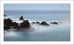 Stazzo (colour) (Les Cornwell Photos) Tags: sea water coast waves rocks seascape longexposure 10stopper stazzo italy sicily