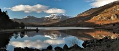 Llynnau Mymbyr recycled (phatmanslim) Tags: llynnaumymbyr mountains snowdon lakes llyn snowdonia snow wales