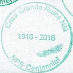 Casa Grande Ruins - NPS Centennial (colinLmiller) Tags: 2016 passport stamp rubberstamp nps blm nationalparkservice bureauoflandmanagement bonus green arizona coolidge casagranderuins nationalmonument nm