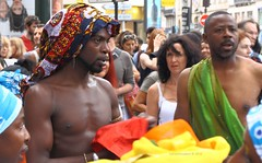 Dancers getting ready (lgh75) Tags: theparisphotographymeetupgroup lavagedelamadeleine festival parade brsil brasil colorful color samba music paris dancers danceurs danse