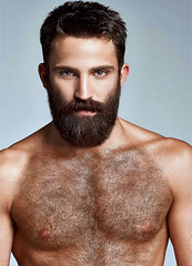 1237 (rrttrrtt555) Tags: hair hairy chest muscles beard spiked spike shoulders arms stare attitude masculine eyes mustache