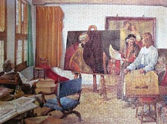 Rembrandt's Studio, 1665 (pefkosmad) Tags: jigsaw puzzle leisure hobby pastime 1000pieces complete