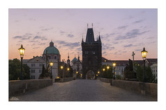 The Charles Bridge (JRTurnerPhotography) Tags: jaketurner jrturnerphotography canon canon5dmarkiii canon24105mmf4lis hdr hdrmerge photo photograph photography photographer print image picture travel travelphotography tourism tourist holiday vacation travelling city cityscape capitalcity landscape landscapephotography prague praha czechrepublic europe eu charlesbridge oldtown pragueoldtown cobbles dawn sunrise clouds lamps statues tower vltavariver karluvmost kamennymost praskmost gothicbuilding building architecture historicbuilding bohemia czechia